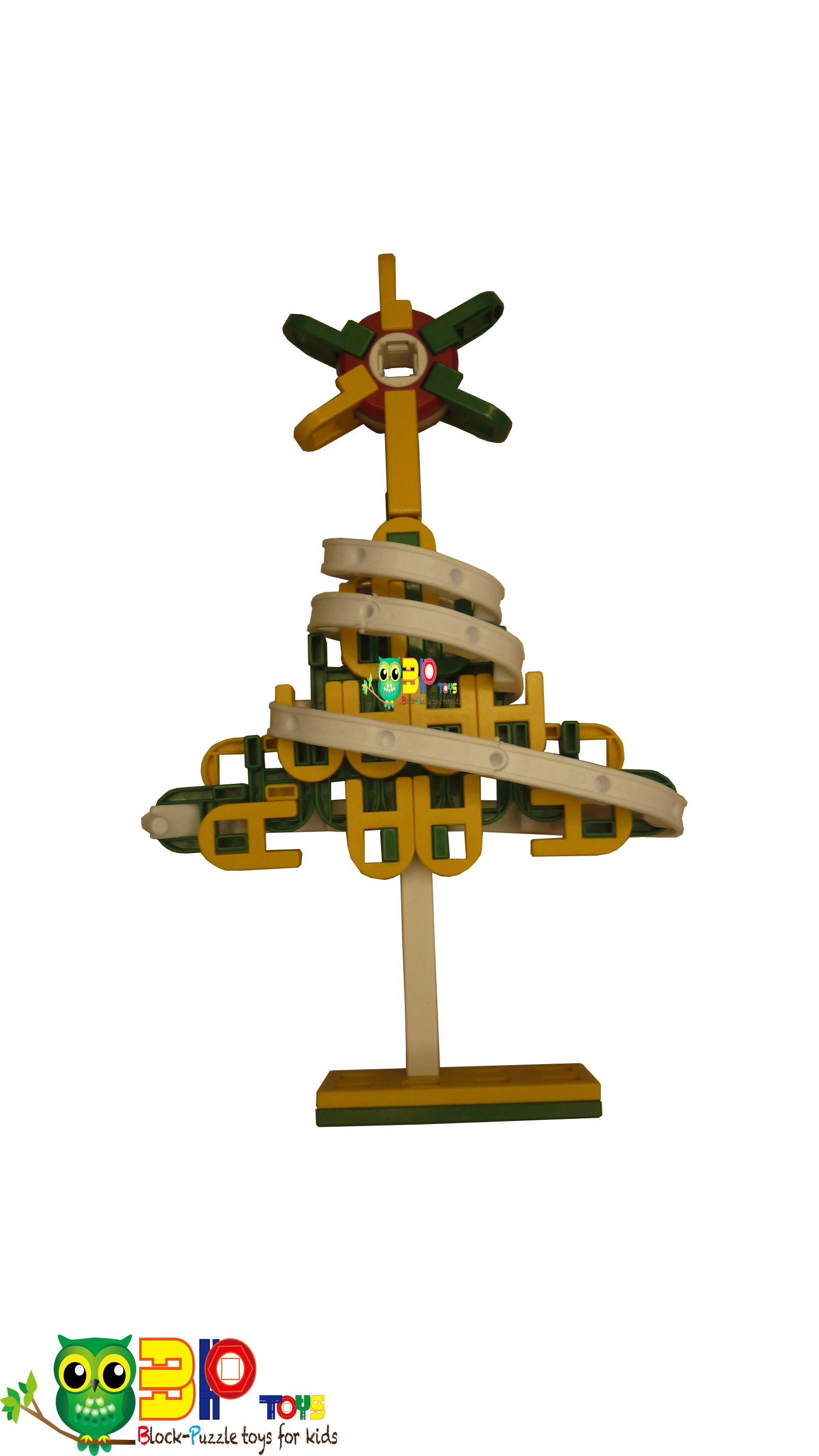 Star On Christmas Tree built by Lasykids Blocks